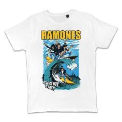 T shirt BLANC RAMONES...