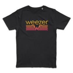 T shirt NOIR WEEZER PINK...