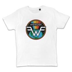 T shirt BLANC WEEZER SPACE...