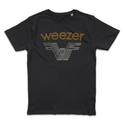 T shirt NOIR WEEZER FLYING W
