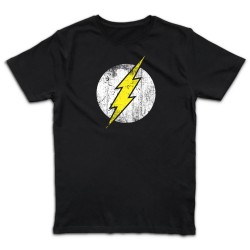 T shirt NOIR  THE FLASH...