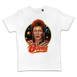 T shirt BLANC DAVID BOWIE...