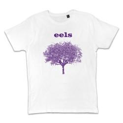 T shirt BLANC EELS PURPLE TREE