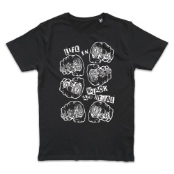 T shirt NOIR METAL TATTOO...