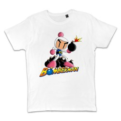 T shirt BLANC BOMBERMAN...