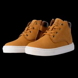 Chaussure Junior Sneakers Mi Haute KENYA CAMEL Petit Logo