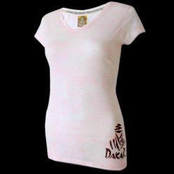 Dakar camiseta rosa con logo de mujer