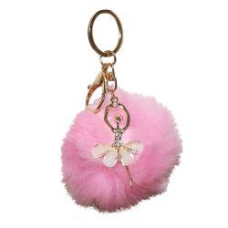 Porte Cle Ballerine et Pompon ROSE