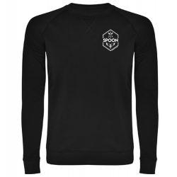 Sweat Shirt NOIR Logo Griffe Spoon