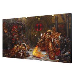 LAMINAGE 60x40   EMPEROR vs HORUS   WARHAMMER 40K 60x40cm