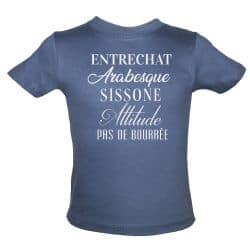 T shirt Enfant Inscriptions Danse