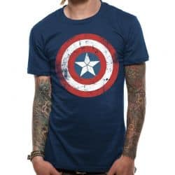 CIVIL WAR   CA SHIEL DISTRESSED FOLT T SHIRT