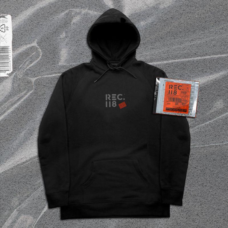 Pack CD Compilation REC 118 2021   NOIR REC 118 Petit Logo Blanc Rouge