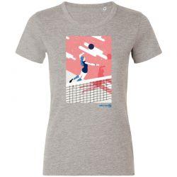 T-Shirt Femme GRIS Volley