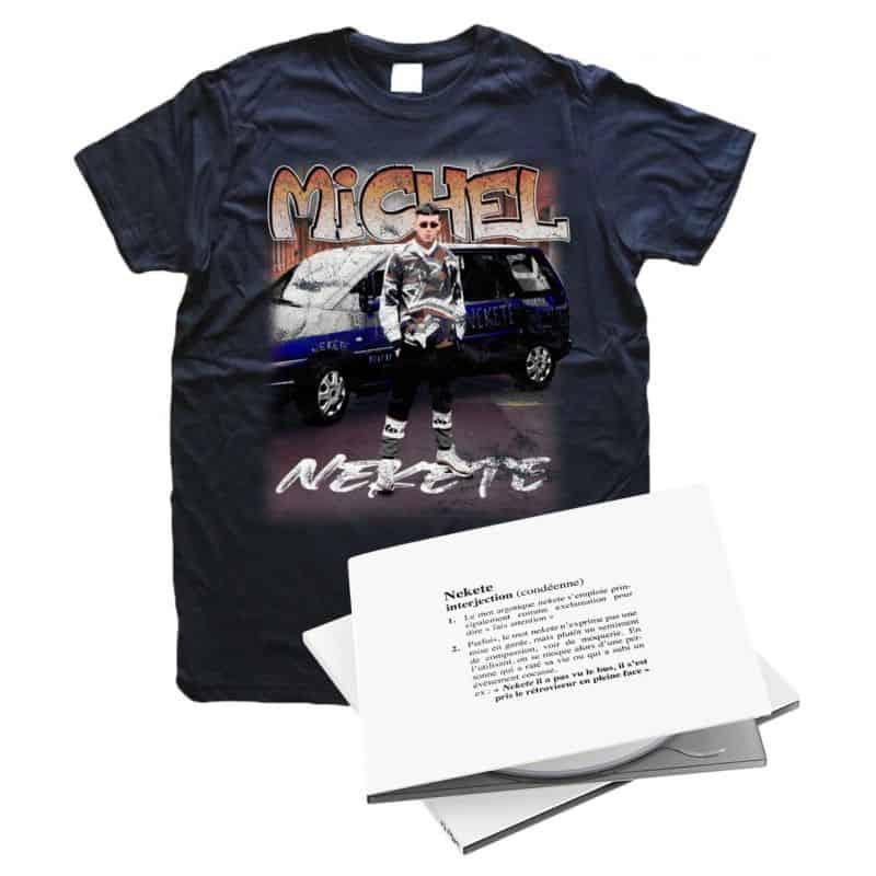Pack Fevrier Michel NEKETE T-shirt   CD NEKETE
