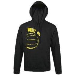 Sweat Capuche NOIR Ballon Jaune