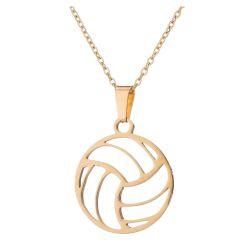 Pendentif Dore Ballon de Volley Ball