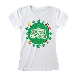 T-shirt Femme BLANC Nintendo Animal Crossing - Logo