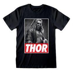 T-shirt NOIR Avengers Endgame - Thor Photo