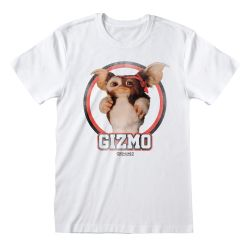 T-shirt BLANC Gremlins - Gizmo Distressed