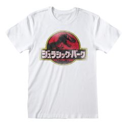 T-shirt BLANC Jurassic Park -  Japanese Logo