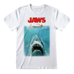 T-shirt BLANC Jaws - Poster