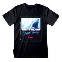 T-shirt NOIR Jaws - Shark Tours