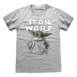 T-shirt GRIS CHINE Star Wars  The Mandalorian - Child Sketch