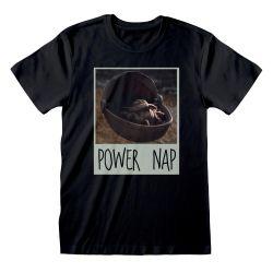 T-shirt NOIR Star Wars  The Mandalorian - Power Nap