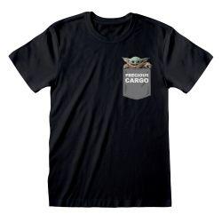 T-shirt NOIR Star Wars  The Mandalorian - Precious Cargo Pocket