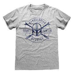 T-shirt GRIS CHINE Star Wars  The Mandalorian - Warrior Emblem