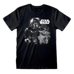 T-shirt NOIR Star Wars  The Mandalorian - BW Photo
