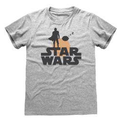 T-shirt GRIS CHINE Star Wars  The Mandalorian - Silhouette