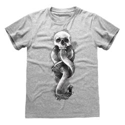 T-shirt GRIS CHINE Harry Potter - Dark Arts Snake