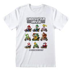 T-shirt BLANC Nintendo Super Mario Kart - Choose Your Driver