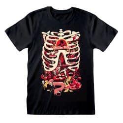 T-shirt NOIR Rick and Morty - Anatomy Park