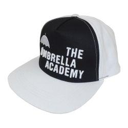 Casquette Snapback BLANCHE ET NOIRE Umbrella Academy Mono Logo Broderie 3D