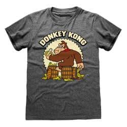 T-shirt NOIR CHINE Nintendo Donkey Kong - Donkey Kong