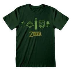 T-shirt VERT FONCE Legend of Zelda - Quest Essentials