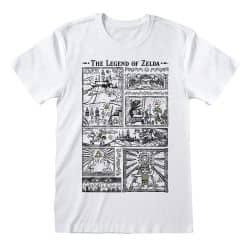 T-shirt BLANC Nintendo Legend Of Zelda - Drawings