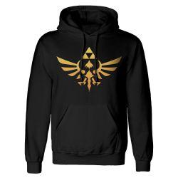 Sweat Capuche Zippe NOIR Nintendo Legend Of Zelda - Hyrule Kingdom Logo
