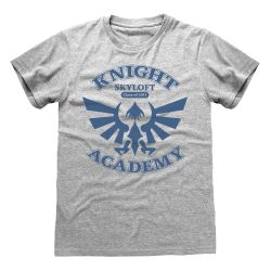 T-shirt GRIS CHINE Nintendo Legend Of Zelda - Knight Academy