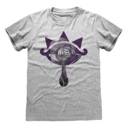 T-shirt GRIS CHINE Nintendo Legend Of Zelda - Sheik Logo