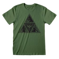 T-shirt VERT Nintendo Legend Of Zelda - Triforce Deco