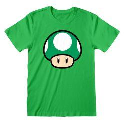 T-shirt VERT Nintendo Super Mario - 1-UP Mushroom
