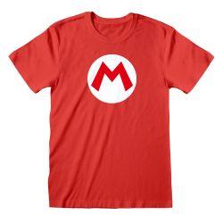 T-shirt ROUGE Nintendo Super Mario - Mario Badge