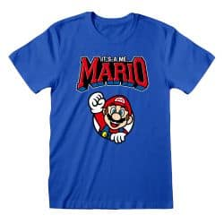 T-shirt Blue Nintendo Super Mario - Varsity