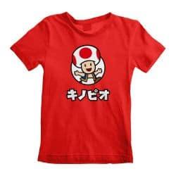 T-shirt Enfant ROUGE Nintendo Super Mario - Toad