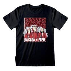 T-shirt NOIR La Casa De Papel - Group Shot