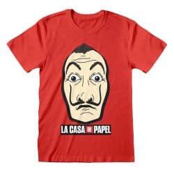 T-shirt ROUGE La Casa De Papel - Mask And Logo